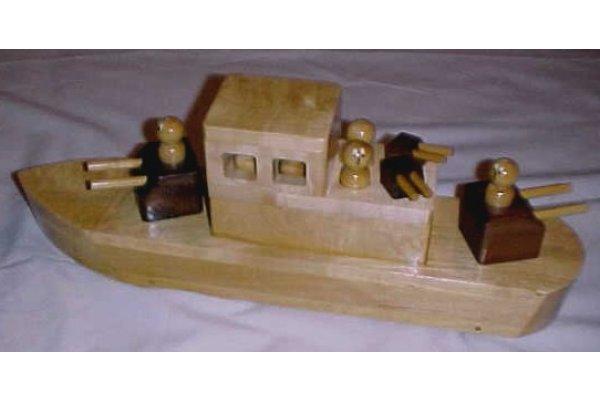 Wooden Toy Boats and Wooden Navy Ships